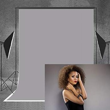 Allenjoy 5x7FT Pure Color Solid Gray Photography Backdrop