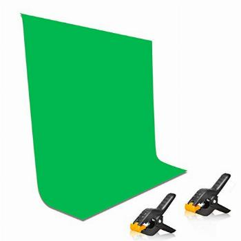 EMART 5x7ft Non-Woven Fabric Solid Color Green Screen
