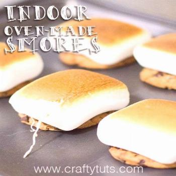 Indoor Oven-made Smores. How to make indoor smores, for when you can't go outside but still want to