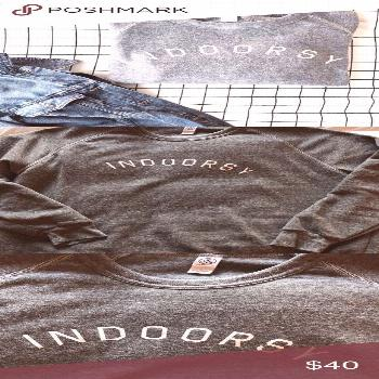 Indoorsy Sweatshirt Never worn. New without tags. Sold as is. I do not trade. Slightly loose fit. A