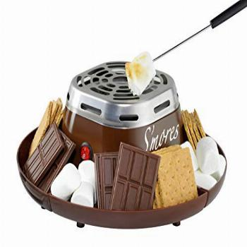 Nostalgia Indoor Electric Stainless Steel S'mores Maker with