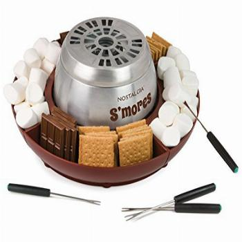 Nostalgia LSM400 Indoor Electric Stainless Steel S'mores