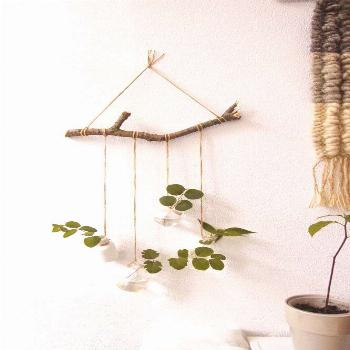 Rustic Hanging Shelves Decorative Wall Shelf for Flowers Plant Wall Decor