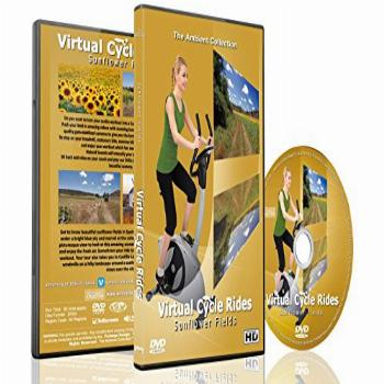 Virtual Cycle Rides DVD - Sunflower Fields - for Indoor