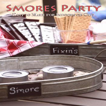 You dont need a big backyard or a fancyfire pit to have an Easy Smores Party! As a matter of fact