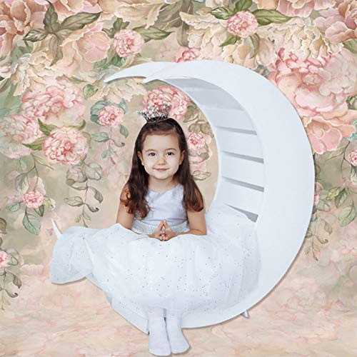 Allenjoy 5x7ft Pastel Floral Painting Backdrop for Newborn