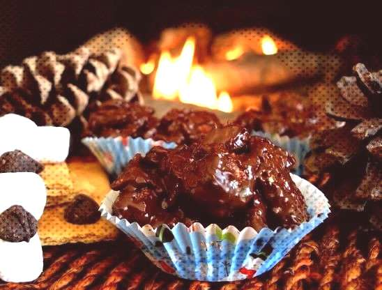 Easy Smore Clusters - Indoor Smores Recipe - Dessert. You can find indoors smores and more on our