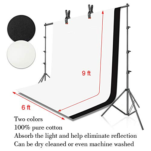 EMART 8.5x10ft Photography Backdrop Kit with 400W 5500K