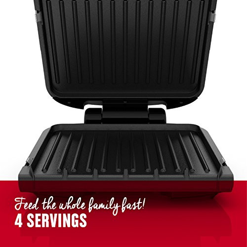 George Foreman 4-Serving Removable Plate Grill and Panini