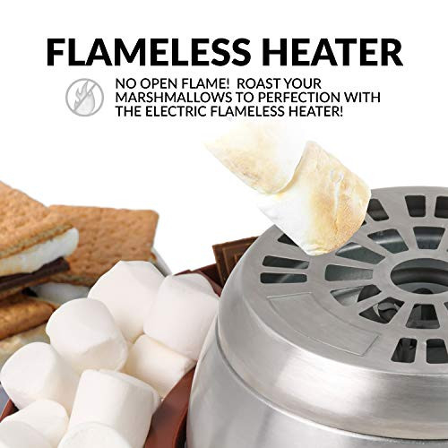 Nostalgia LSM400 Indoor Electric Stainless Steel Smores
