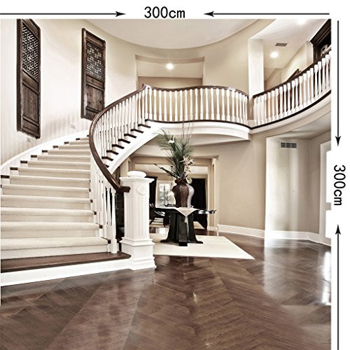 SJOLOON 10x10ft Indoor Photo Backdrops Stairs Photography