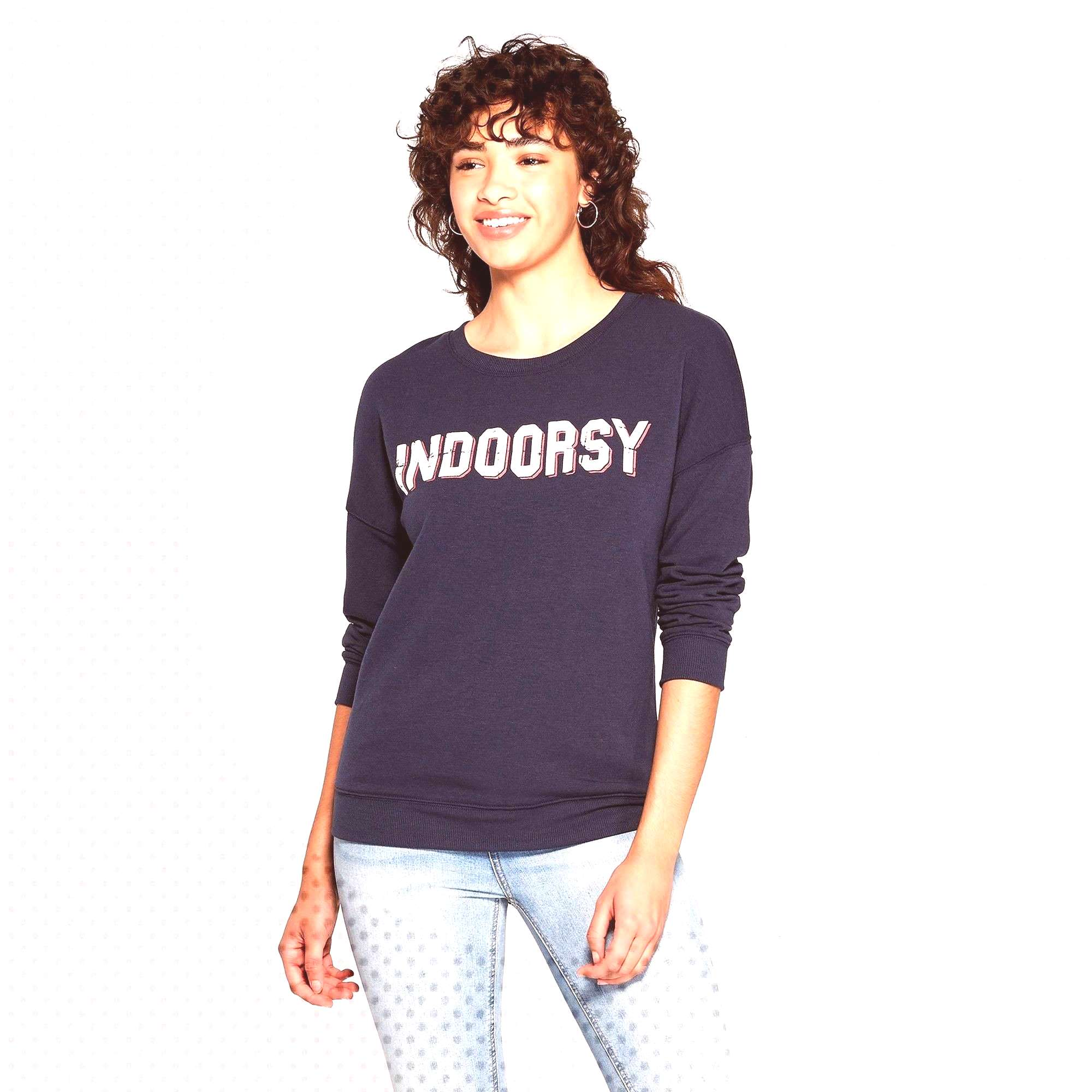 Womens Indoorsy Sweatshirt - Zoe+Liv (Juniors) - Blue S, Womens, Size SmallYou can find indoors